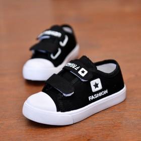 女童帆布鞋儿童单鞋时尚板鞋学生球鞋透休闲鞋男童低帮