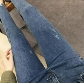 2020春秋新款女装韩版修身弹力高腰学生女士牛仔裤