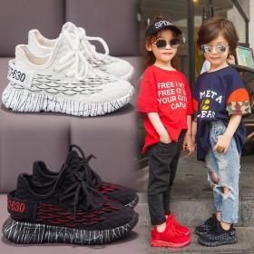 2020春秋新款儿童鞋子运动鞋软底儿童椰子鱼鳞网面
