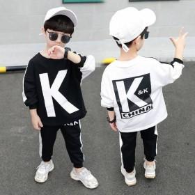 男童套装李现同款KK战队春秋运新款儿童洋气