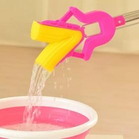 拖把家用时尚加厚免水洗可吸水折叠式海绵拖把