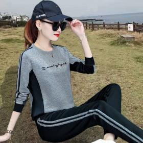 2020春秋新款套装女时尚休闲运动套装女韩版