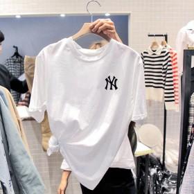 2020夏季韩版新款学生T恤短袖上衣外贸女装