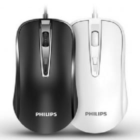 飞利浦有线鼠标USB静音英菲克家用办公笔记本台式