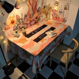 桌布防水防油免洗垫网红北欧茶几少女心宿舍餐桌布艺