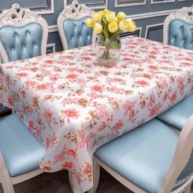桌布防水防烫防油免洗餐桌垫家用长正方形台布盖布