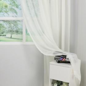帕特娜丝纯色素色窗帘成品简约现代棉麻亚麻纱帘客厅