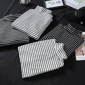 条纹打底衫女2020秋冬韩版新款长袖T恤女上衣女装