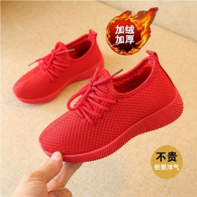2020春秋新款韩版休闲儿童单鞋中大童加绒加厚棉鞋