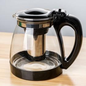 耐热防爆大容量玻璃泡茶壶家用功夫茶花茶壶办公茶具