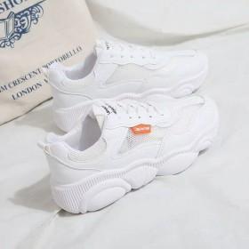 小熊鞋底女学生韩版网面透气运动鞋女小白鞋百搭老爹鞋