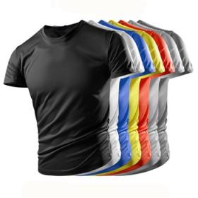 新款短袖户外速干衣男短袖T恤运动跑步宽松透气短袖