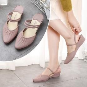 一鞋两穿女士凉鞋软底韩版舒适夏季妈妈鞋女平底防滑逛