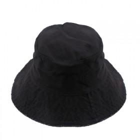 纯色毛边平顶盆帽新款男女帽子潮布帽