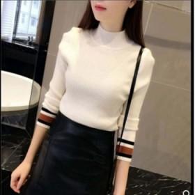 韩版套头学生拼色圆领秋装新款打底衫女长袖百搭打