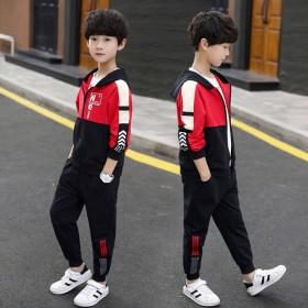 男童春款套装新款洋气春秋装儿童两件套中大童男孩潮