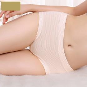 【专柜同款】5条自在时光中腰收腹纯棉内裤女