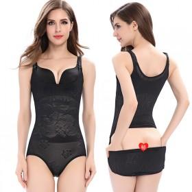 夏季超薄款连体塑身衣开档收腹燃脂美体瘦.身连体衣