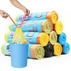 加厚加大办公室手提式垃圾袋彩色大号家用断点式塑料袋