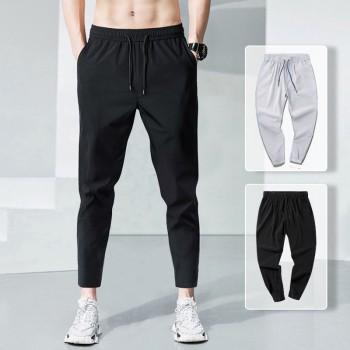 九分裤男款春夏季潮流加大码肥胖哥青年爸爸装运动裤速