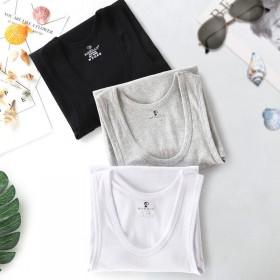 【1或3件装】春复男士纯棉背心健身运动无袖棉料汗衫