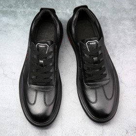 纯皮头层牛皮男士休闲运动鞋新品破0活动