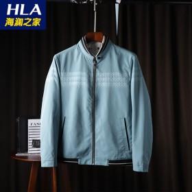 春秋季新款品牌男装立领三条纹休闲夹克男士外套22