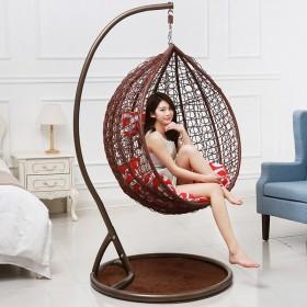 单人鸟巢吊篮藤椅吊椅家用室内阳台懒人户外摇篮吊椅