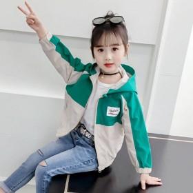 新款春装儿童韩版洋气中大童夹克上衣潮时尚童装女外套