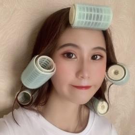 大号刘海卷塑料卷发器卷发棒卷发筒自粘发卷美发卷发夹