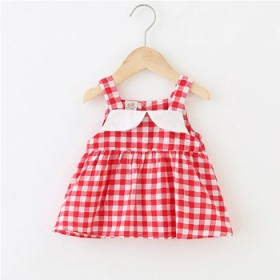 女童夏季无袖连衣裙