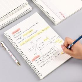 康奈尔笔记本子大学生文具用品简约网格A5方格