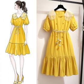 很仙法国小众连衣裙2020流行夏天子森系chic温