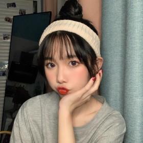 发带女网红洗脸简约森系超仙韩国可爱宽边针织毛线头带