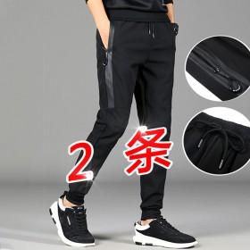 裤子男士韩版潮流春季运动裤束脚工装裤宽松直筒潮牌百