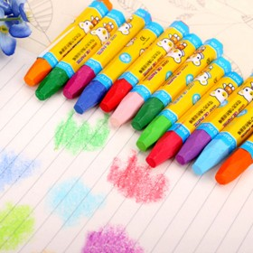 12色水溶性旋转油画棒 儿童彩色蜡笔可水洗画笔