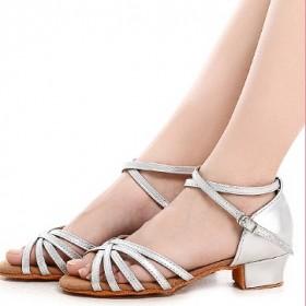 拉丁舞鞋女中低高跟跳舞舞蹈鞋女鞋子
