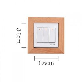 实木开光装饰墙贴插座装饰框