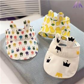 新生儿童空顶帽韩国进口遮阳帽春夏太阳帽男女宝宝鸭舌