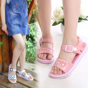 女童凉鞋2020新款夏季学生公主鞋小女孩平底凉鞋中