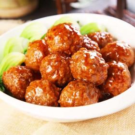 红烧狮子头1000g约30枚四喜丸子猪肉丸子熟食特