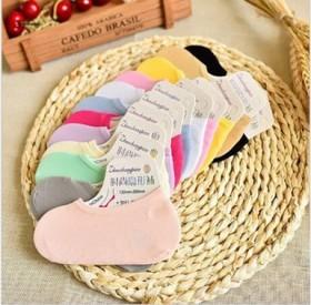 天鹅绒透气隐形袜糖果色女士硅胶船袜