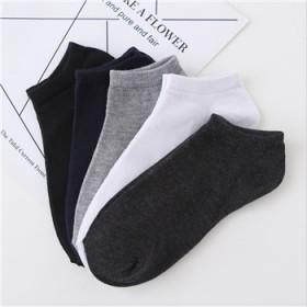 涤棉透气隐形船袜男纯色薄款短袜颜色随机