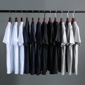 白色t恤男士纯色短袖男宽松纯棉潮流t桖大码半袖体恤