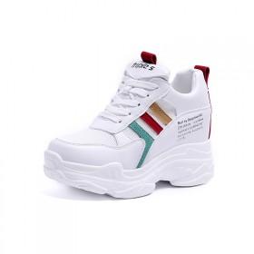 2020春季新款时尚休闲运动鞋女内增高小白鞋女系带
