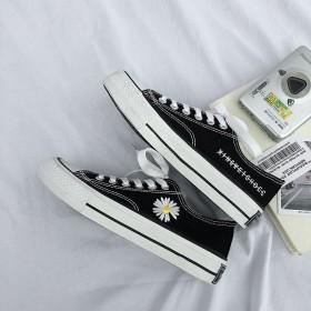新款权志龙GD同款低帮菊花硫化鞋学生胶鞋