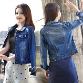 牛仔外套韩版宽松bf牛仔服上衣短款女春秋休闲外套