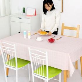 北欧餐桌布 防水防烫防油免洗塑料桌布格子台布茶几布