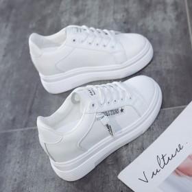 小白鞋女2020春季新款百搭老爹鞋女厚底松运动休闲