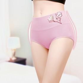 95%纯棉款 【艾草 抗 菌 裆】4条内裤女大码